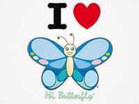 I Love Hi Butterfly