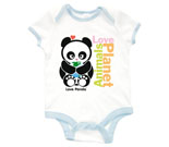 Animals Love Planet Baby Rib 2 Tone One Piece‏