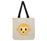 Buddha Monkey Happiness Heals Cotton Canvas with contrasting han