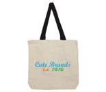 Cute Brands Cotton Canvas contrasting handle bag