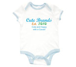Cute Brands Cute and Happy with a Cause! Baby Rib 2 Tone One Pie