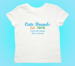 Cute Brands Cute and Happy with a Cause! Toddler's Jersey T-Shir