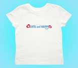Cute and Happy Blue with Hearts Toddler's Jersey T-Shirt