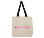 Cute and Happy Pink Cotton Canvas contrasting handle bag