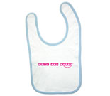 Cute and Happy Pink Baby Bib