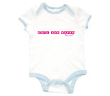 Cute and Happy Pink Baby Rib 2 Tone One Piece