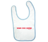 Cute and Happy Red Baby Bib