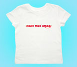Cute and Happy Red Toddler's Jersey T-Shirt