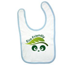 Eco Friendly Love Panda Abstract Baby Bib