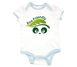 Eco Friendly Love Panda Abstract Baby Rib 2 Tone One Piece‏