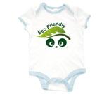 Eco Friendly Love Panda Abstract Baby Rib 2 Tone One Piece