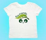 Eco Friendly Love Panda Abstract Toddler's Jersey T-Shirt