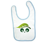 Ecologic Love Panda Abstract Baby Bib