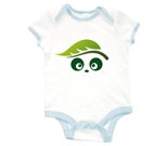 Ecologic Love Panda Abstract Baby Rib 2 Tone One Piece