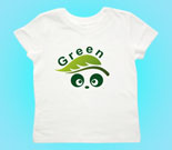 Green Love Panda Abstract Toddler's Jersey T-Shirt