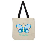 Hi Butterfly Color Cotton Canvas with contrasting handles bag