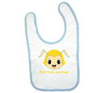 Hug Monsters Head Yellow Baby Bib