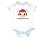 Hug Monsters Head Purple Baby Rib 2 Tone One Piece‏