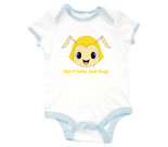 Hug Monsters Head Yellow Baby Rib 2 Tone One Piece‏