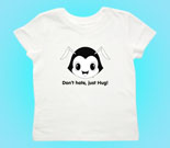 Hug Monsters Head black and white Toddler's Jersey T-Shirt