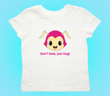 Hug Monsters Head Pink Toddler's Jersey T-Shirt