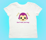 Hug Monsters Head Purple Toddler's Jersey T-Shirt