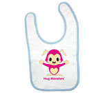Hug Monsters Pink Baby Bib