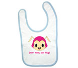 Hug Monsters Pink Head Baby Bib