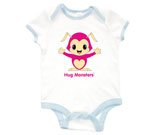 Hug Monsters Pink Baby Rib 2 Tone One Piece‏