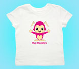 Hug Monsters Pink Toddler's Jersey T-Shirt