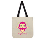 Hug Monsters Pink Cotton Canvas contrasting handle bag