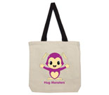Hug Monsters Purple Cotton Canvas contrasting handle bag