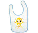 Hug Monsters Yellow Baby Bib