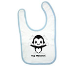 Hug Monsters black and white Baby Bib