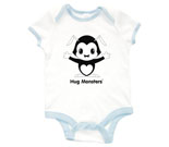 Hug Monsters black and white Baby Rib 2 Tone One Piece‏