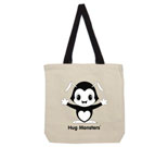 Hug Monsters black and white Cotton Canvas contrasting handle ba