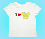 I Love Hi Butterfly Yellow Toddler's Jersey T-Shirt