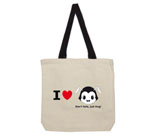 I Love Hug Monsters Horizontal Black Head Cotton Canvas - contra