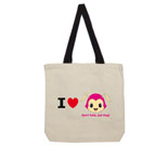 I Love Hug Monsters Horizontal Pink Head Cotton Canvas - contra
