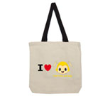 I Love Hug Monsters Horizontal Yellow Head Cotton Canvas - contr