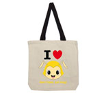 I Love Hug Monsters Vertical Yellow Head Cotton Canvas - contras