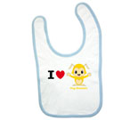 I Love Hug Monsters Horizontal  Yellow Boy Baby Bib