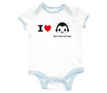 I Love Hug Monsters Horizontal Black Head Baby Rib 2 Tone One Pi