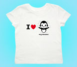 I Love Hug Monsters Horizontal Black Toddler's Jersey T-Shirt