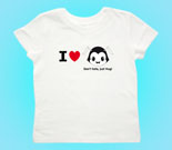 I Love Hug Monsters Horizontal Black Head Toddler's Jersey T-Shi