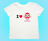 I Love Hug Monsters Horizontal Pink Toddler's Jersey T-Shirt