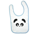 Love Panda Abstract Boy Baby Bib