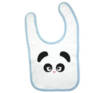 Love Panda Abstract Girl Baby Bib