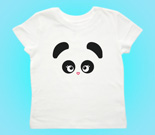 Love Panda Abstract Girl Toddler's Jersey T-Shirt