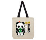 Love Panda Boy Asian/White/Black Cotton Canvas with contrasting